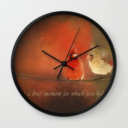 Winter Love2 Wall Clock