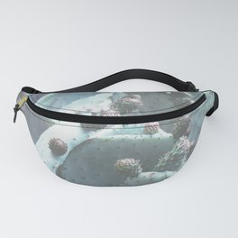 Green Flowering Cacti Fanny Pack