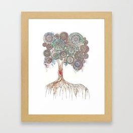 Broken Tree Framed Art Print