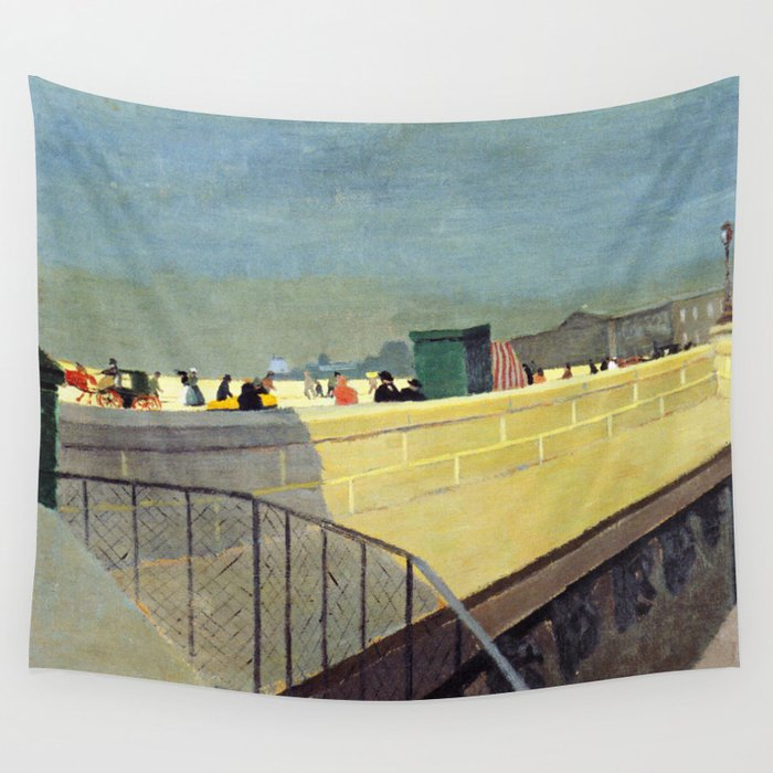 Felix Vallotton - Le Pont Neuf (new color editing) Wall Tapestry by  dejavustudio