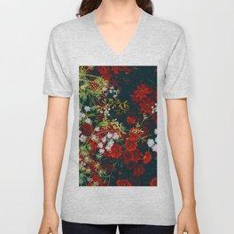 The Flower Bed (Color) Unisex V-Neck