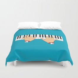 Piano Hands Duvet Cover