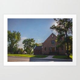 Holy Trinity Catholic Church, Fingal, North Dakota Art Print