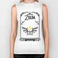 legend of zelda Biker Tanks featuring Zelda legend - Hyrulian Emblem by Art & Be