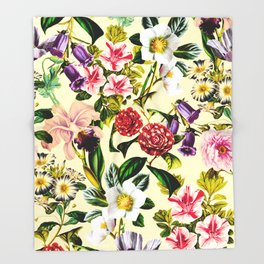 SUMMER BOTANICAL X Throw Blanket