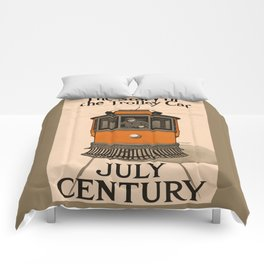 History of the Trolley car 1905 Comforters