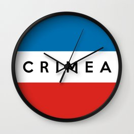 crimea country flag name text Wall Clock