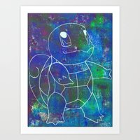 squirtle Art Prints featuring Squirtle by Paul K Arnold