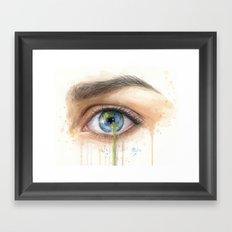 Crying Earth Eye Framed Art Print