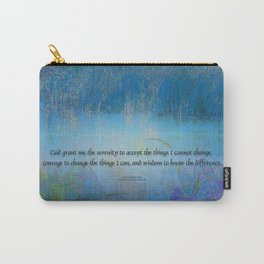 Serenity Prayer Blue Marsh Carry-All Pouch