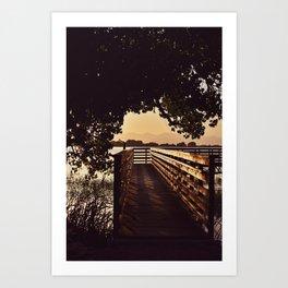 Colorado Pier Sunset Art Print