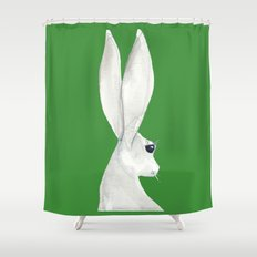 tenzin rabbit Shower Curtain
