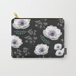 Anemones collection black pattern Carry-All Pouch