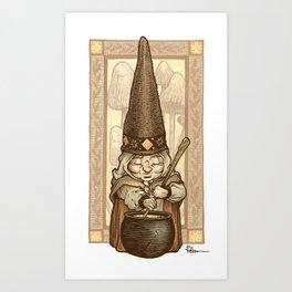 Gnome Cook Art Print