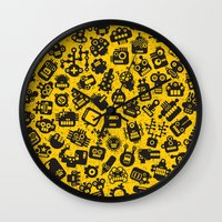 talking heads Wall Clocks featuring Heads. by panova