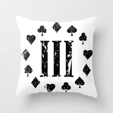 Three Percenter Aces Distressed  Throw Pillow