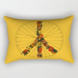 Peace & Bike (Colors) Rectangular Pillow