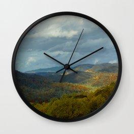 Great Smoky Mountains Late Autumn Vista Wall Clock