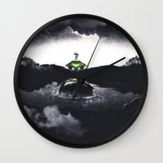 The Landing A Zebes Surrealism Wall Clock