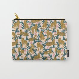 Cheetah jungle print on blush pink  Carry-All Pouch