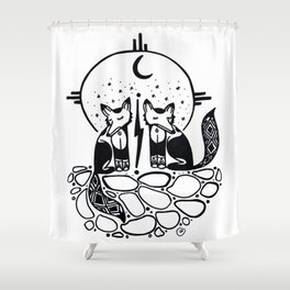 Tricksters/ Enamorados Shower Curtain