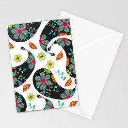 Dark Paisley  Stationery Cards