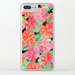 Begonia Clear iPhone Case