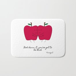 Kind Apples (or An Ode To My Imaginary Boyfriend) Bath Mat