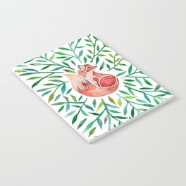 Woodland Fox – Green Leaves Notebook