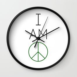 I Am Peace. Wall Clock
