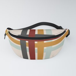 Colored Retro Cross Fanny Pack