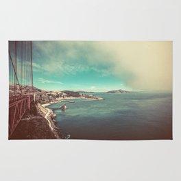 San Francisco Bay from Golden Gate Bridge Rug