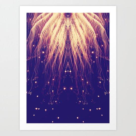 Fire Hair Art Print