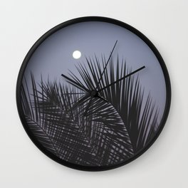 Moonrise over Los Angeles Wall Clock