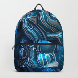 Macro 3D Blue Reflections Backpack