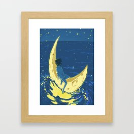 I want some one to talk to. Framed Art Print