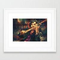 samsung Framed Art Prints featuring Virtuoso by Alice X. Zhang