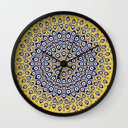 Nazar - Turkish Eye Circular Ornament #3 Wall Clock