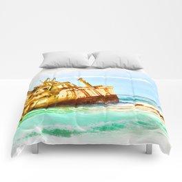 shipwreck aqrestd Comforters