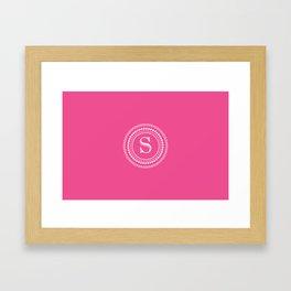 Circle of S Framed Art Print