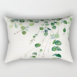 Eucalyptus Watercolor Rectangular Pillow