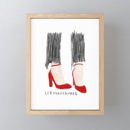 Les Chaussures Framed Mini Art Print