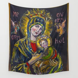 Our Lady of Perpetual Help Wall Tapestry