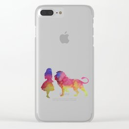 Lion and girl Clear iPhone Case