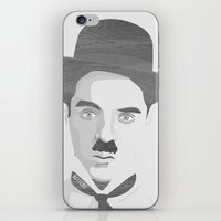 charlie chaplin iPhone & iPod Skins featuring Chaplin by Beitebe