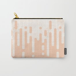 Marble and Geometric Diamond Drips, in Peach Carry-All Pouch