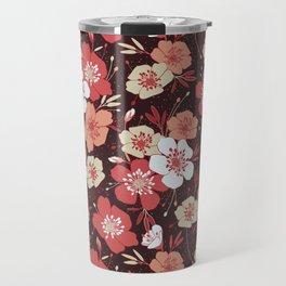 Coral flower pattern Travel Mug