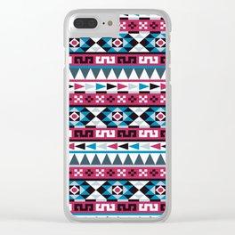 Aztec Geometric Pattern Clear iPhone Case