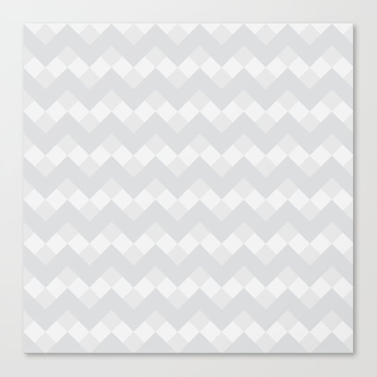 Chevron Neue Gray and White Pattern Canvas Print
