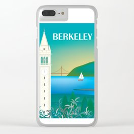 Berkeley, California - Skyline Illustration by Loose Petals Clear iPhone Case